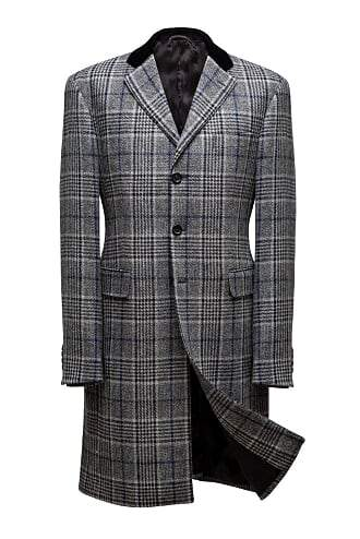 INOLTRE Coat custom / Grey and Black Mr. Muhammad Ali Triple Button Top Coat