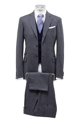 INOLTRE Suits Custom / Grey Mr. Woodward Suit (Made to Measure)