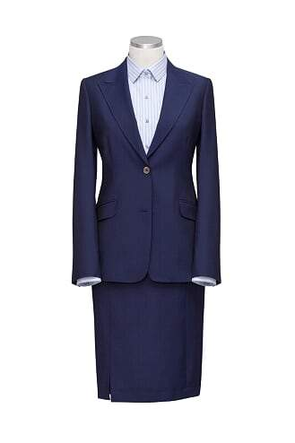 INOLTRE Suits custom / Navy Ms. CEO In a Skirt Suit ( Made to Measure)