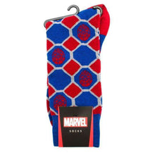 Load image into Gallery viewer, Spider-Man Blue Checker Socks
