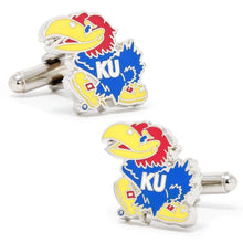 Load image into Gallery viewer, University of Kansas Jayhawks Cufflinks