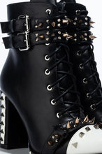 Load image into Gallery viewer, Right or Wrong Chunky Heel Studded Boots