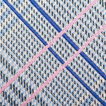 Load image into Gallery viewer, Ox and Bull Trading Co. Neck Tie Blue Blue and Pink Glen Plaid Silk Tie