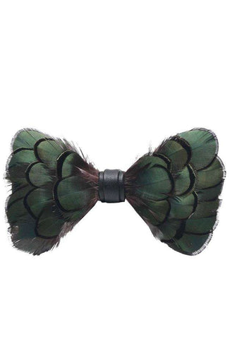 GREEN FEATHER BOW TIE Bow Ties Shopinoltre