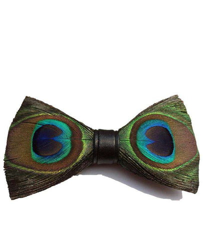 PEACOCK FEATHER BOW TIE Bow Ties Shopinoltre