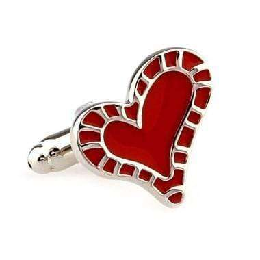 RED HEART CUFFLINKS Cufflinks Shopinoltre