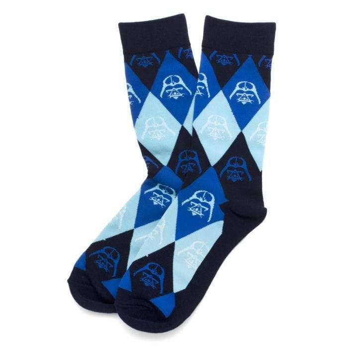 Darth Vader Argyle Blue Socks