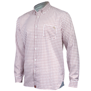 Front View of Florida State University FSU Seminoles Plaid Long Sleeve Button-down Shirt with Collar