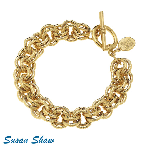 Gold Double Link Chain Bracelet