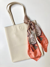 Load image into Gallery viewer, Leather Tote with Scarf