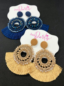 Crochet & Fringe Earrings