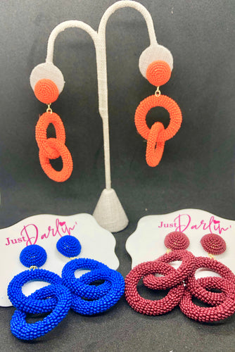 Double Link Seed Bead Earrings