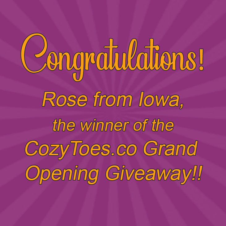 Congratulations to Rose from Iowa