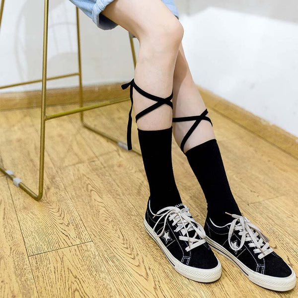 Lace Up Black