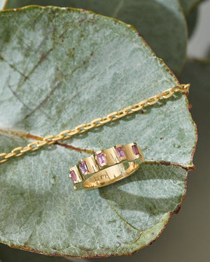 Parmentier Ring - Pink Sapphires