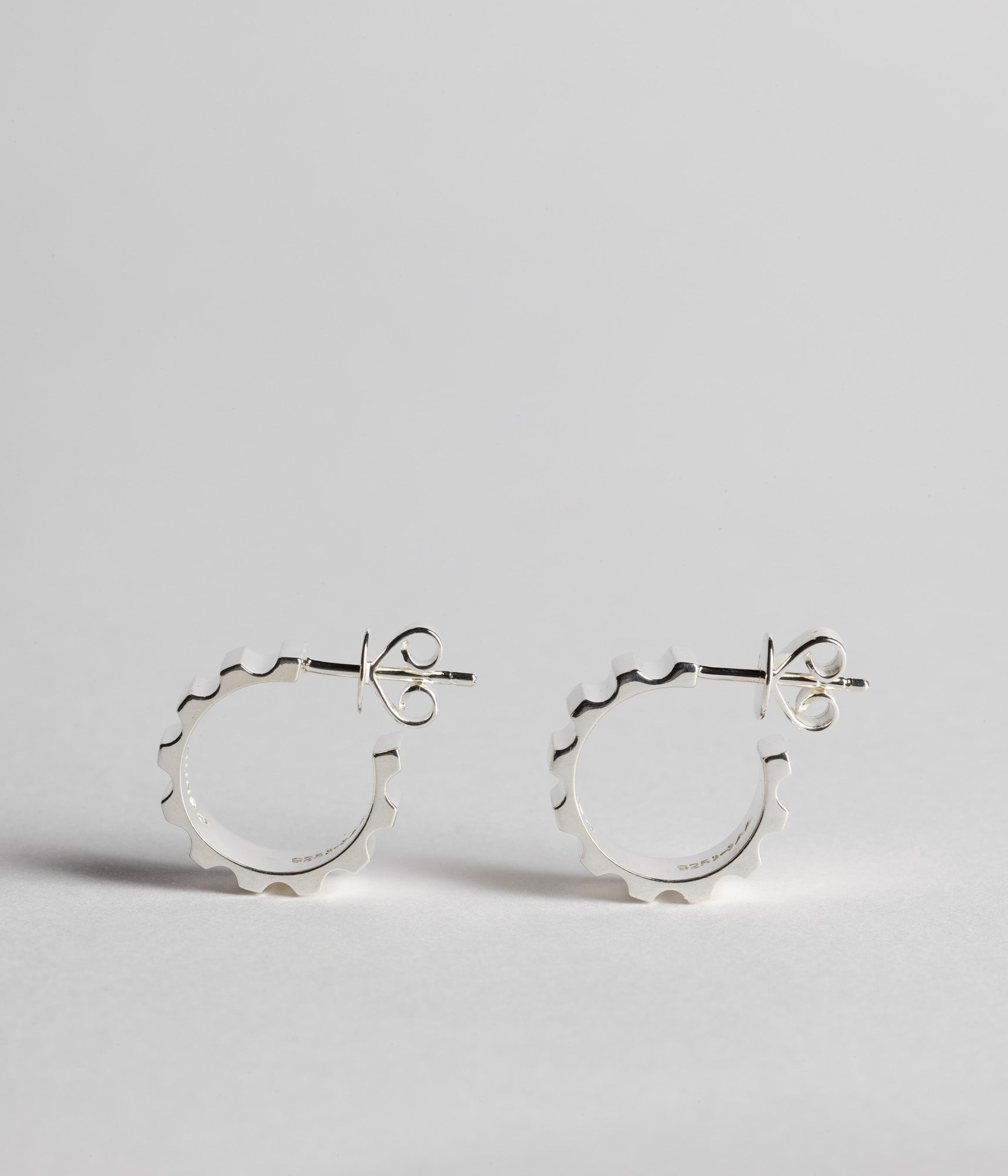 Parmentier Hoops - Sterling silver