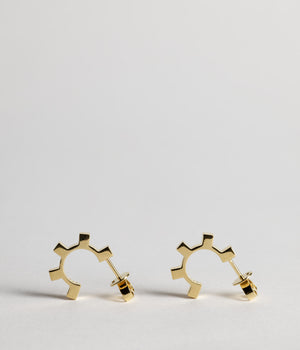 Small Dental hoops - Gold Vermeil