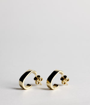 Boulevard Hoop earrings - Gold Vermeil