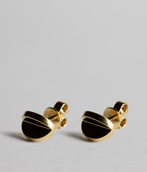Double Disc Studs - Gold Vermeil
