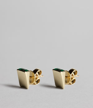 Roche studs - Emeralds
