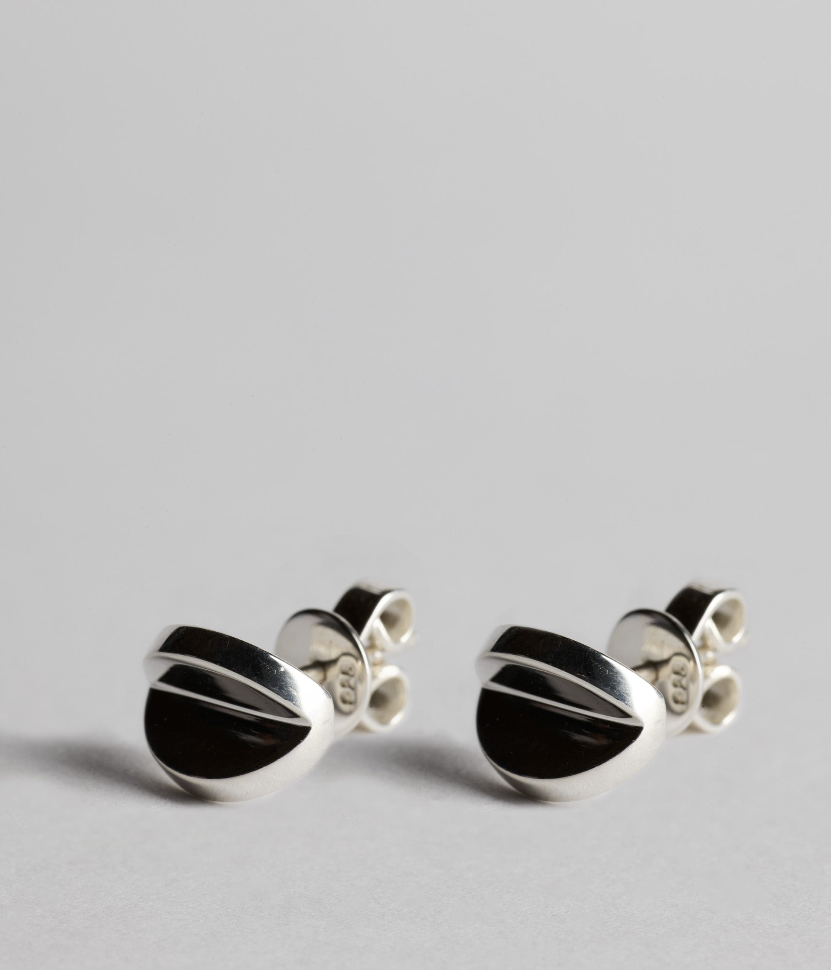 Double Disc Studs - Sterling Silver