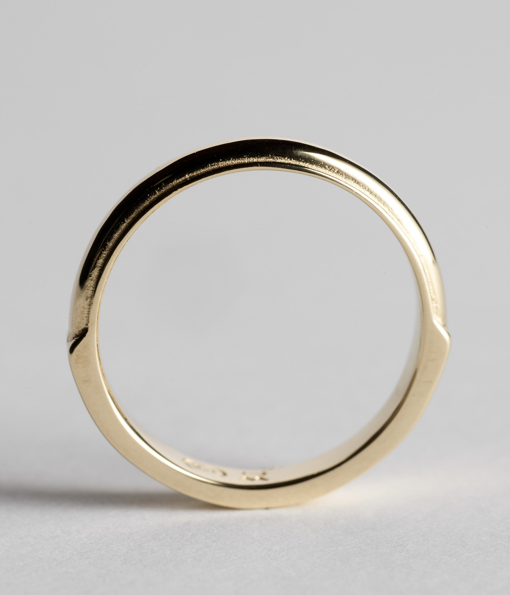 Bull Nose Ring - Yellow Gold