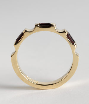 Parmentier Bridge Ring - Almandine Garnets