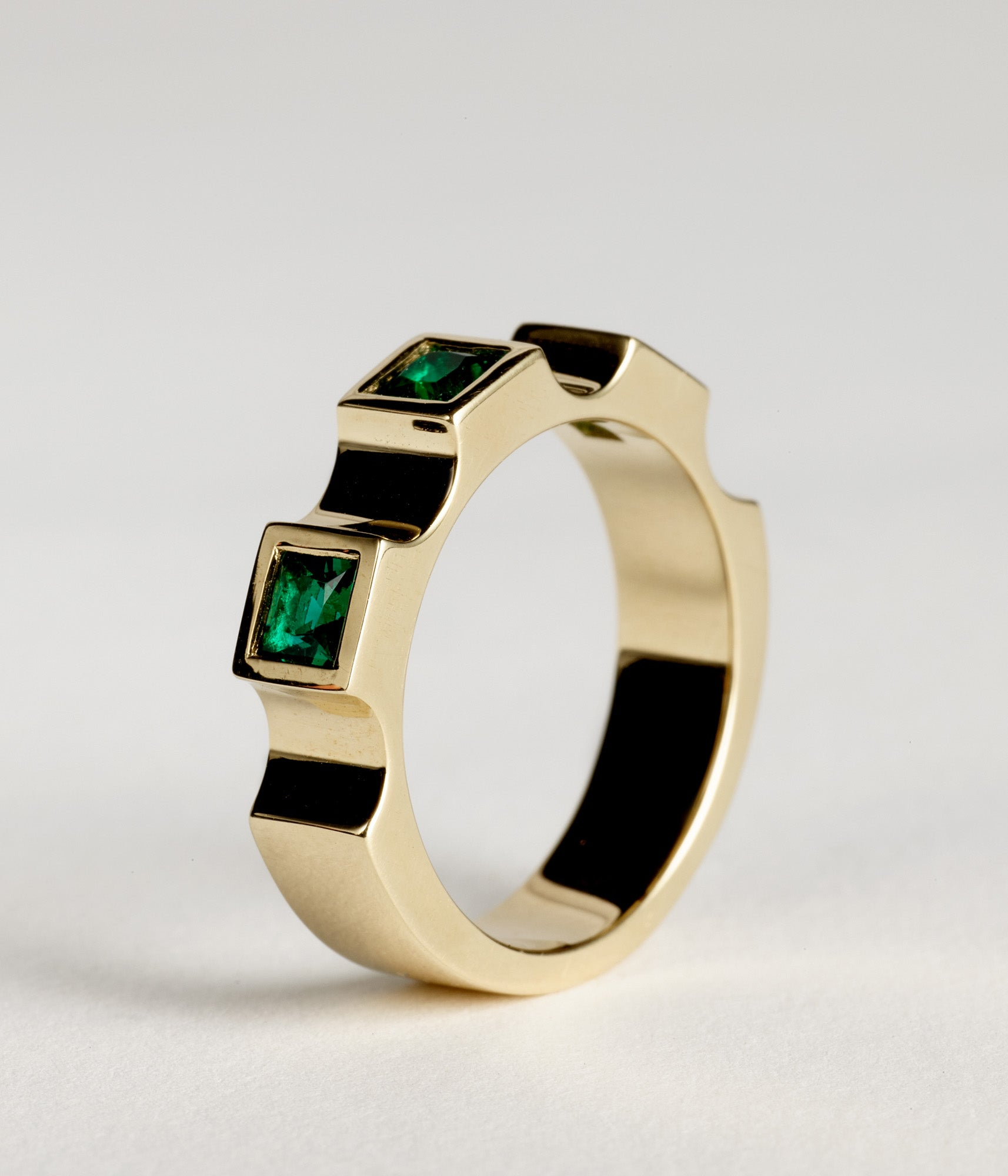 Parmentier window ring - Emerald