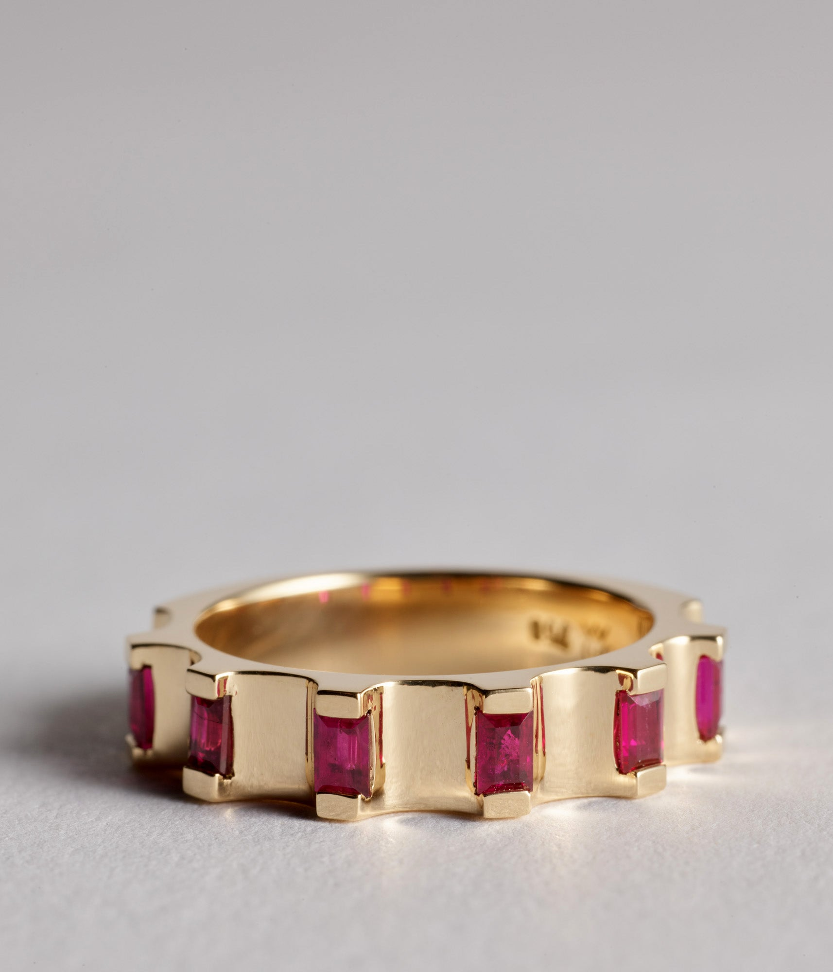 Parmentier ring - 18ct Ruby