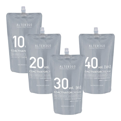 ALTER EGO ITALY  - Coactivator Cream Oxidizer / Developer 1000ml (5vol, 10vol, 20vol, 30vol, 40vol)