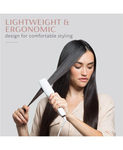 T3 SinglePass X 1.5 Ionic Flat Iron with Ceramic Plates (White & Rose Gold)