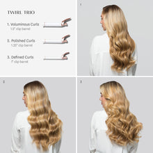 Load image into Gallery viewer, T3 Twirl Trio Interchangeable Clip Curling Iron Set