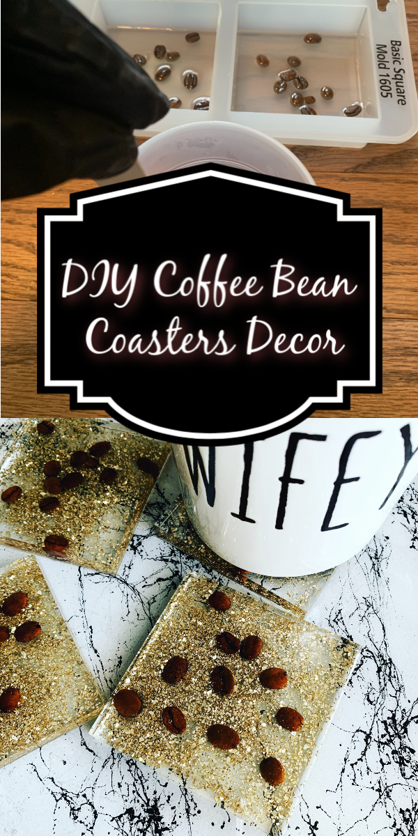 How to Make Square Coffee Bean Coasters with Resin