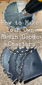 How to Create Resin Geode Coasters