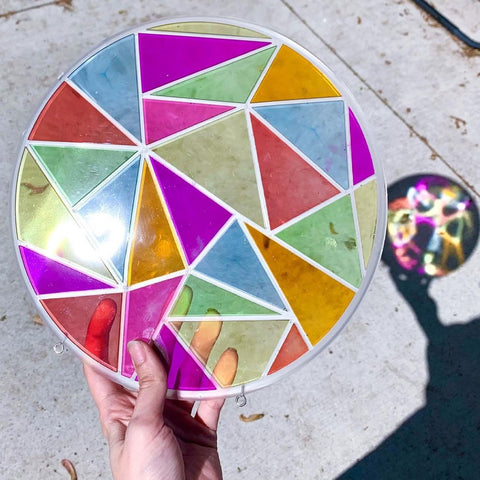 resin mold stained glass window