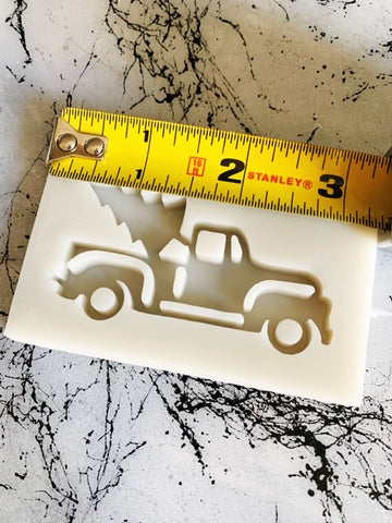 Silicone resin art mold Christmas tree truck