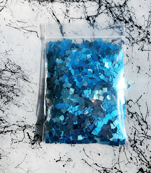 light blue square glitter for resin coasters