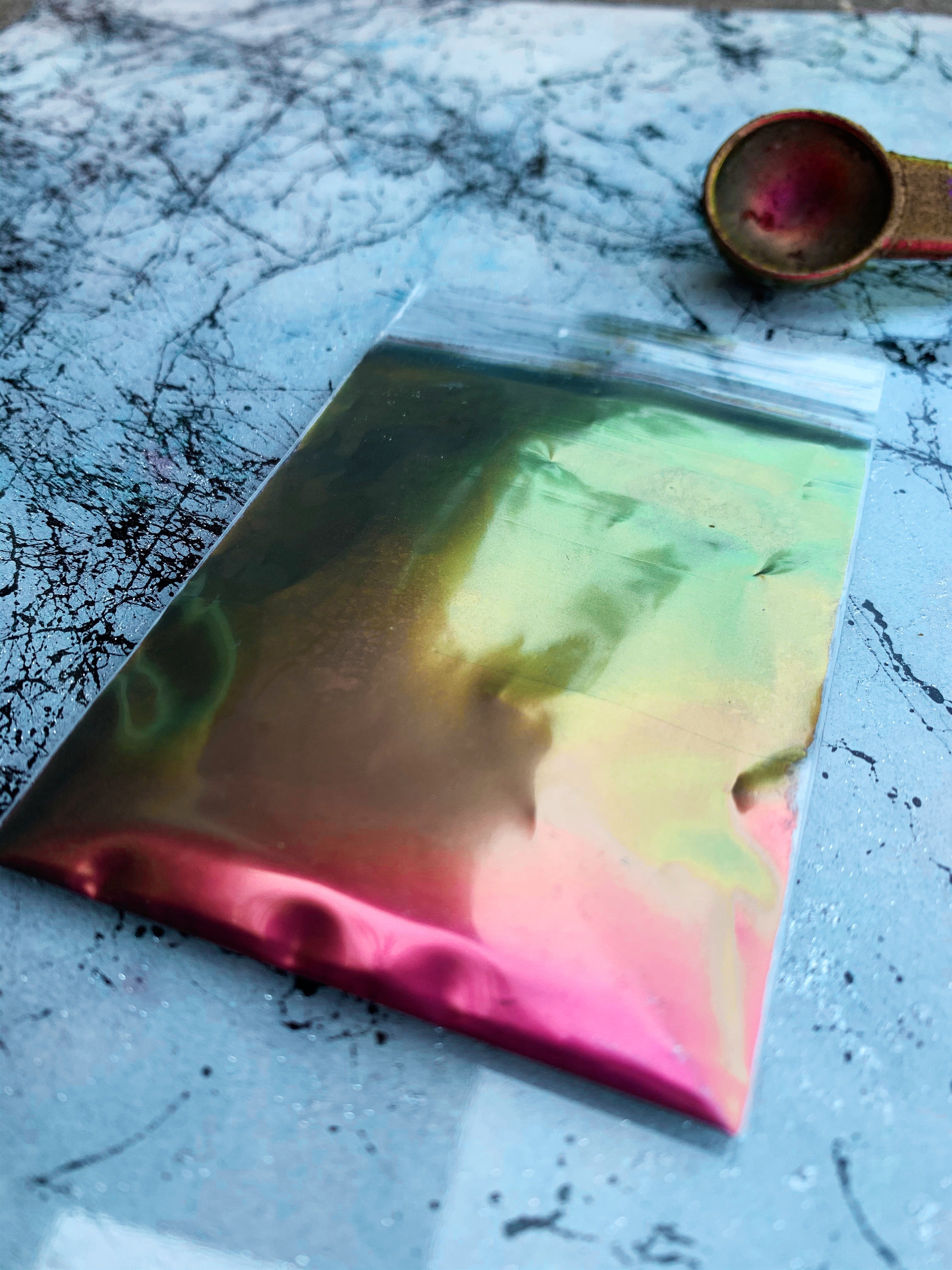 chameleon mica powder color shift pigment for resin coasters