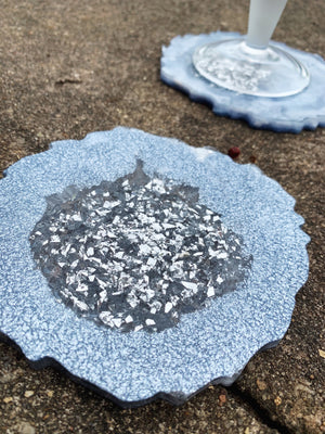 geode resin round circle craft art mold coasters for coaster