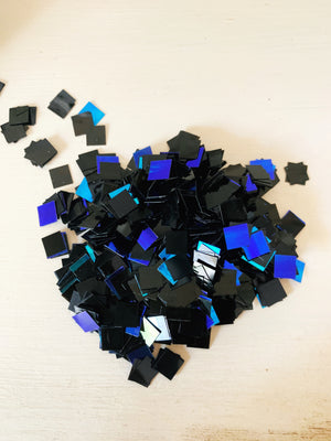 black square opal glitter for resin art coasters