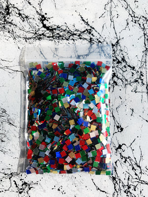 square glitter for resin multi-color coasters