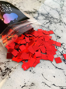 extra large square red glitter for resin art coasters