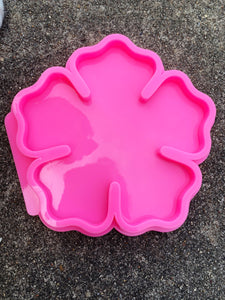 large flower resin coaster bowl shiny silicone mold