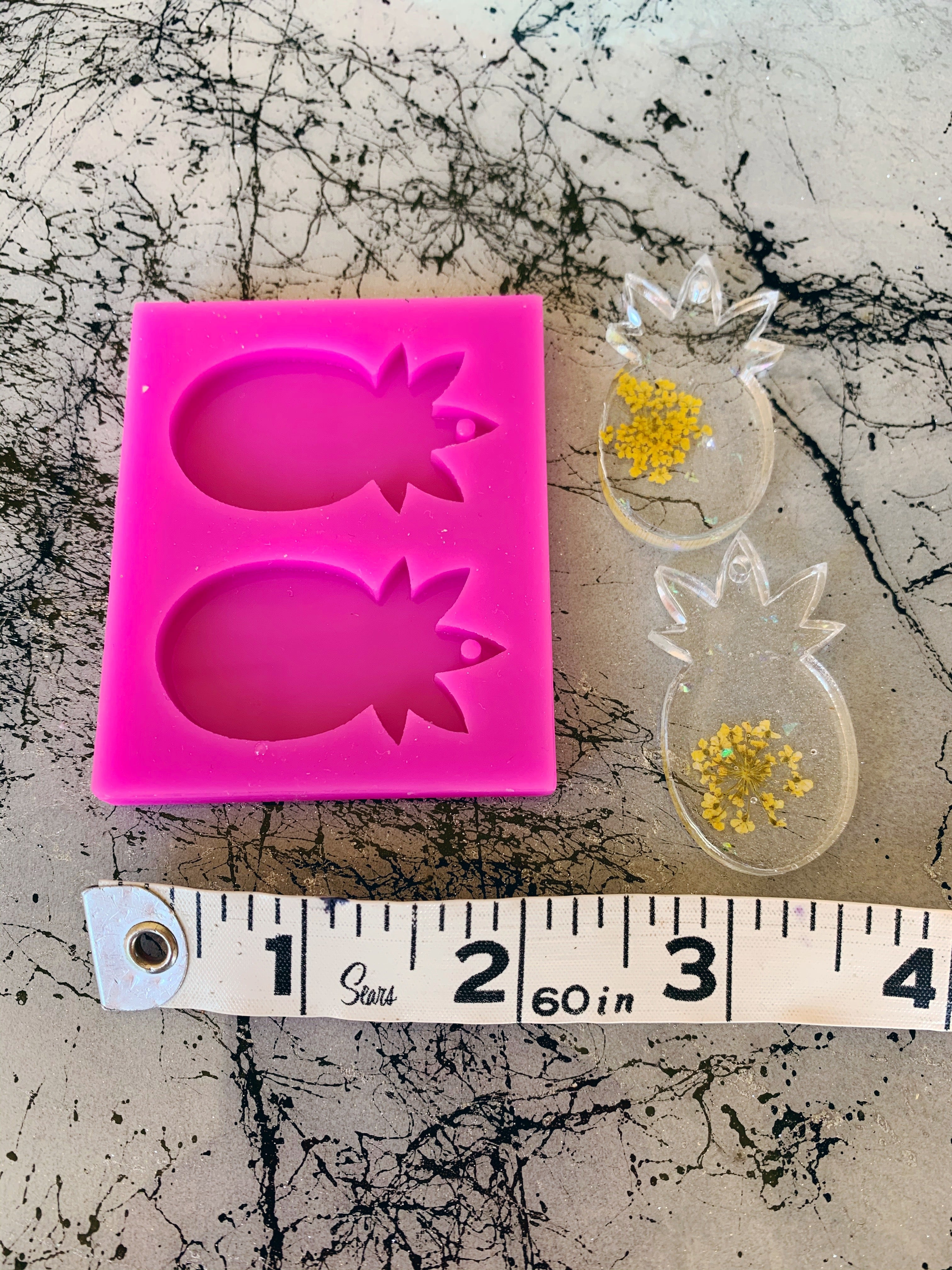pineapple resin silicone earring mold craft