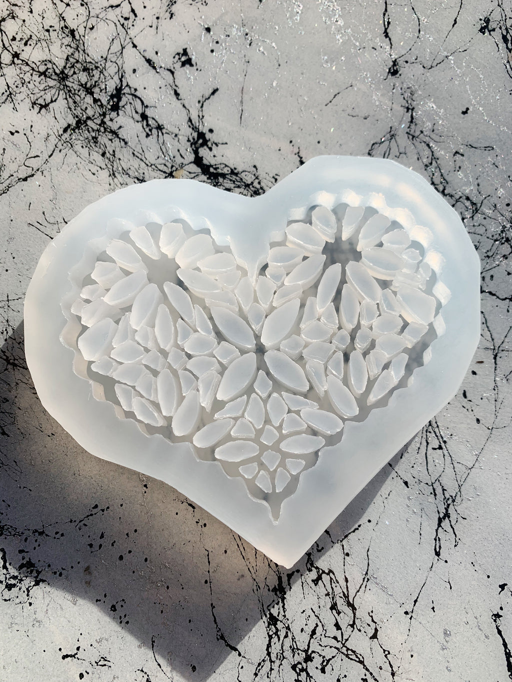 heart lace Valentine's Day resin silicone mold