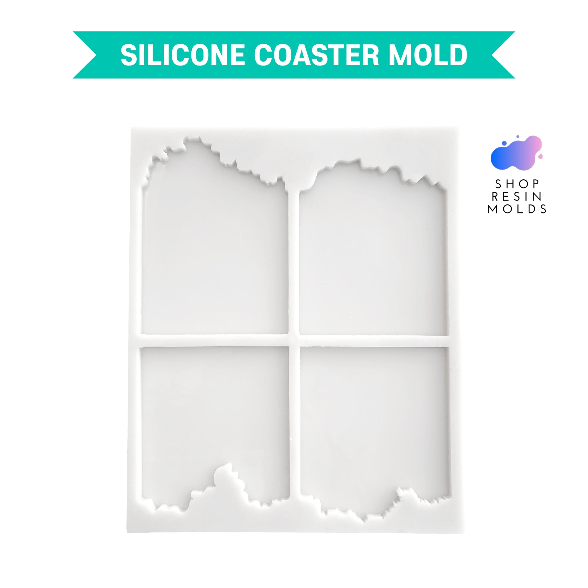 resin geode coaster agate silicone mold for resin coasters square
