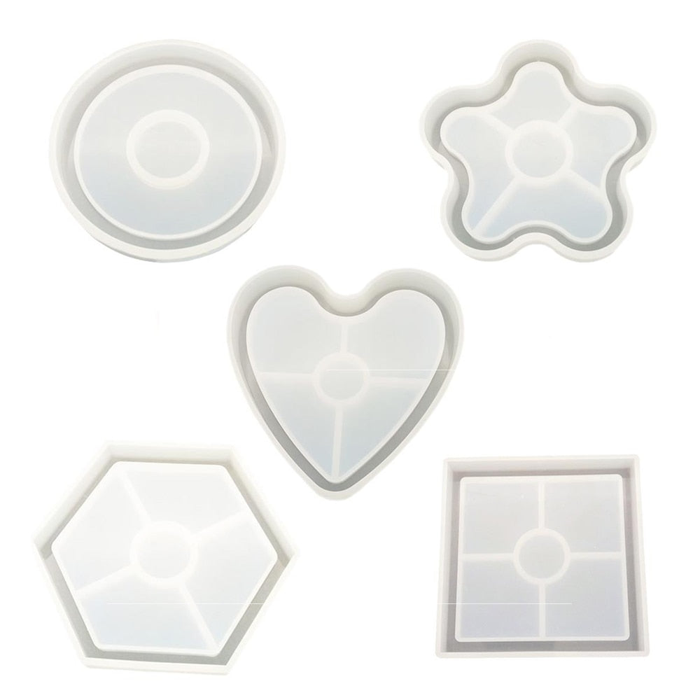 diy resin art silicone coaster mold molds