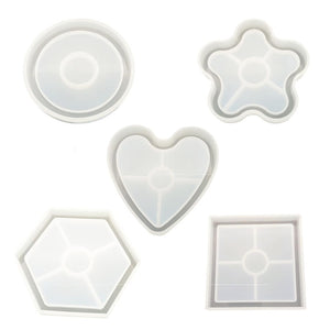 DIY Silicone Mold shapes for Epoxy Resin Crafts Coasters Molds
