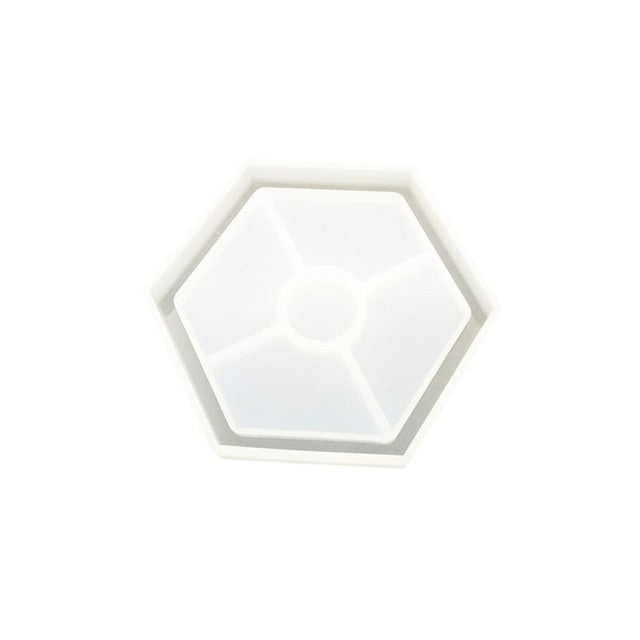 hexagon coaster silicone resin mold