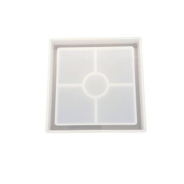 square silicone resin mold coaster